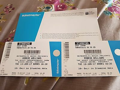 Robbie Williams Tickets.Ricoh Arena Coventry.