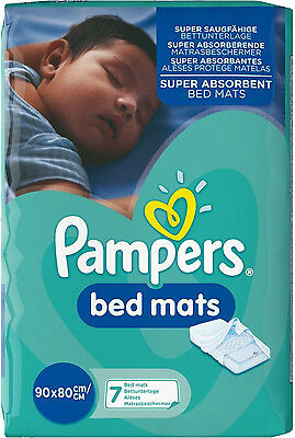 Pampers Bed Mats (21 Mats - Pack of 3) *BRAND NEW*