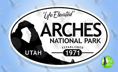 ARCHES NATIONAL PARK Arch Utah Oval Bumper Sticker Travel Decal
