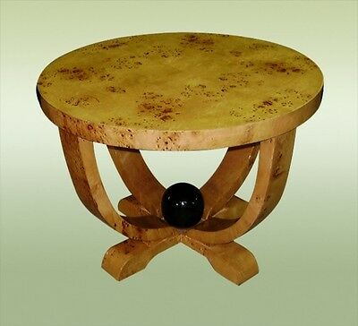 FINEST French Elm round Art deco style side table