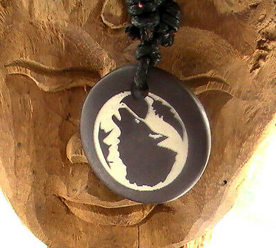 Native American Necklace, HOWLING WOLF Hunter blessed by Native American Zane.M