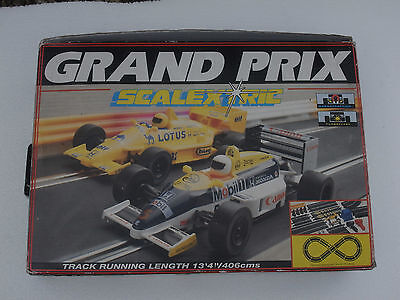 Scalextric C.644 Grand Prix boxed set with Lotus Honda Cars. Complete and in VGC