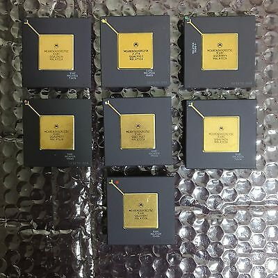 lot of 7 CPU Gold Ceramic Scrap for GOLD RECOVERY