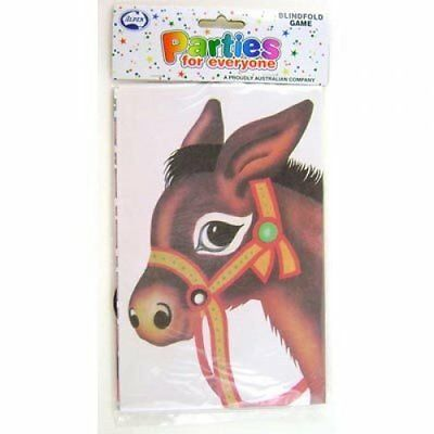 Pin The Tail On The Donkey Kids Birthday Party Blindfold Game - 24 Players