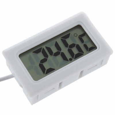 White Lcd Digital Thermometer £2.29 Free P&p 24Hr Dispatch From The U.k.