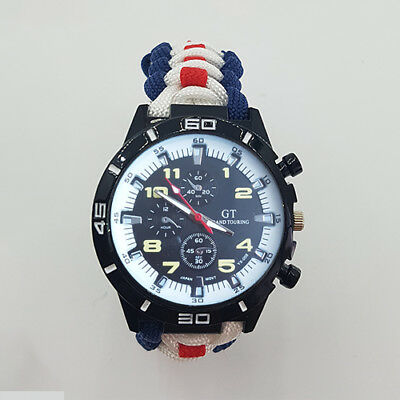 Paracord Watch with Royal Air Force (RAF) Colours a Great Gift