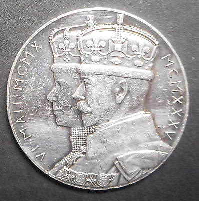 Great Britain Official 1935 George V Jubilee Silver  Medal better detail