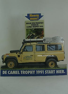 Camel Trophy 1991 store display shop display land rover and application leaflets