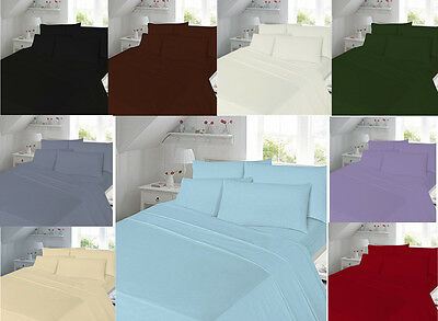 Valance Sheets T180 Percale Quality Single Double King Super King Or Pillowcases