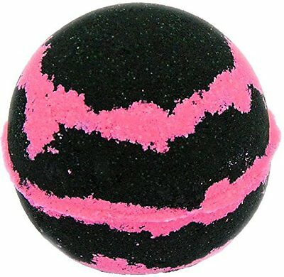 Bath Bomb 5.5 oz Black & Pink Sugar w Kaolin Clay & Coconut Oil