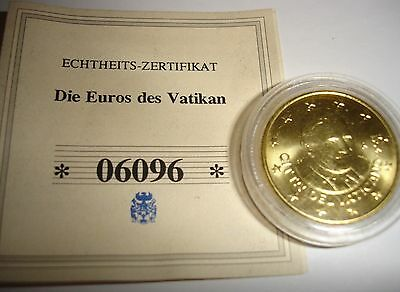 Vatican State Euro 50 cent Pope coin 2011 uncirculated