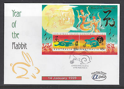 Fdc:  Alpha Type,  1999 Year Of The Rabbit   Scarce F.d.c!!!!