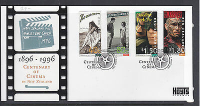 New Zealand 1996 Cent Of Cinema Fdc