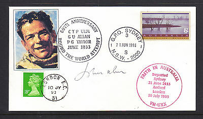 Flight Cover: Ctp Ulm 60Th Ann Round The World Attempt Signed Cover Scarce!!!!