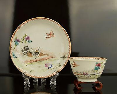 A Superb Perfect Chinese Yongzheng Teacup & Saucer with Ducks
