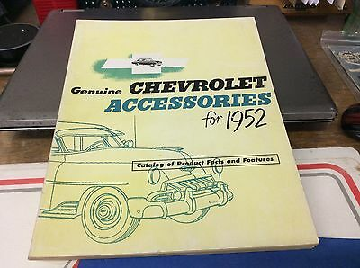 1952 CHEVROLET FULL LINE ACCESSORY BOOK CARS AND TRUCKS. 95 pages