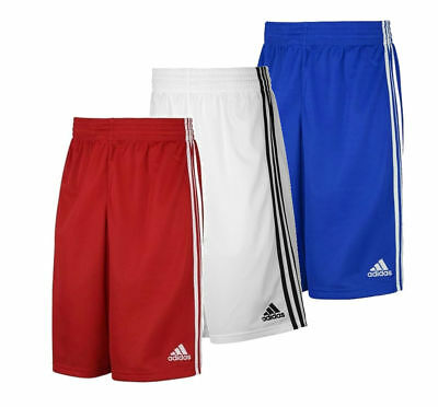 adidas Commander Boys Kids Youths Basketball Shorts Age 5-16 Red/White sport gym