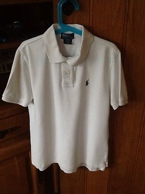 Boys authentic Ralph Lauren white polo shirt age 10-12 years