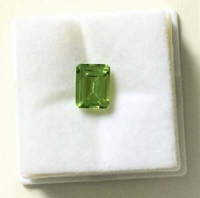 Natural Apple Green Peridot Emerald Cut 5x3 Lot of 10 Stone Ebays Best Deal