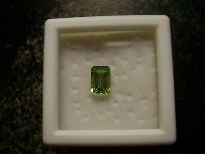 Natural Apple Green Peridot Emerald Cut 7.5 Lot of 4 Stone Ebays Best Deal