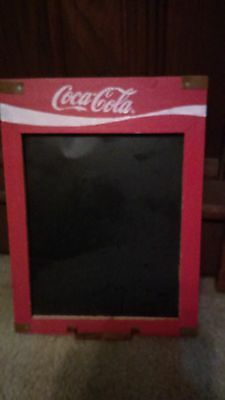Vintage looking Metal Coca Cola Menu,small Board