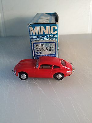 Triang Minic Motorways M/1582 Jaguar E Type 2+2 Fastback Red BOXED  Lovely Car.
