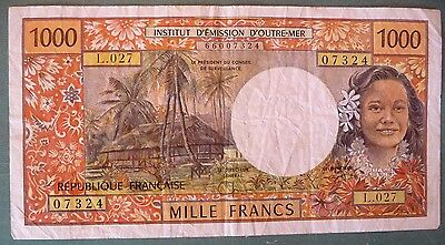French Pacific Territories 1000 1 000 Francs From 1996, P2