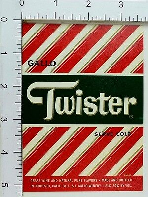 1950's-60's Vintage Gallo Twister Label Bottle Grape Wine