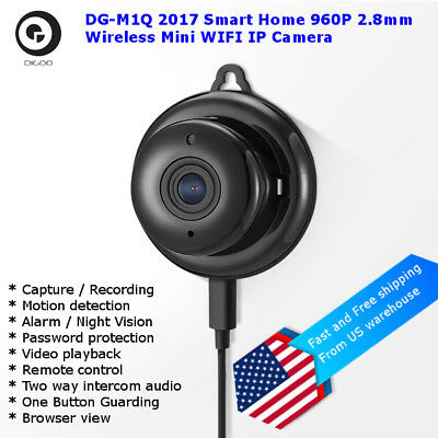 Digoo DG-M1Q 960P HD Wireless Mini WIFI Night Vision Home Security IP Camera