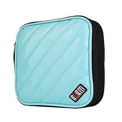 BUBM Padded 32 Capacity CD DVD Storage Wallet, Carrying Case, Light Blue