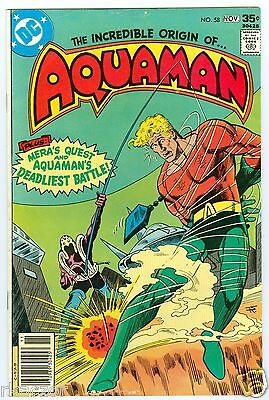 Aquaman #58 Oct.-Nov. 1977 Fine