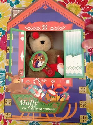 1996 North American Bear Co Muffy The Red-Nosed ReinBear Teddy Limited Edition