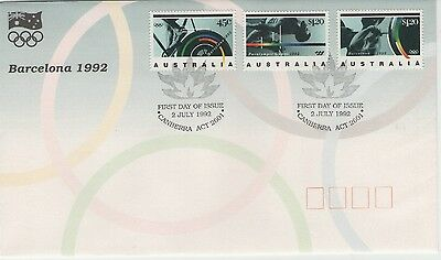 AUSTRALIA BARCELONA OLYMPICS 1992   FIRST DAY COVER P&P discount available