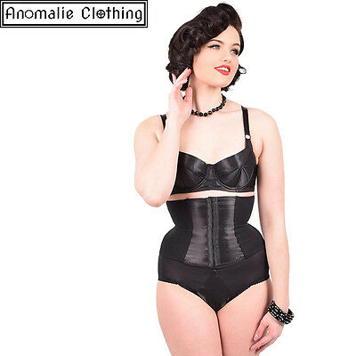 What Katie Did Glamour Nouveau Waspie in Black - Retro Vintage Pinup Goth Corset