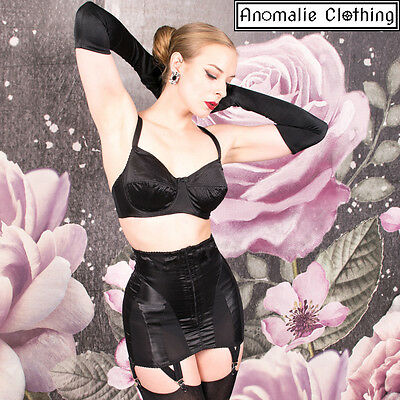 What Katie Did Bizarre Girdle in Black – Retro Rockabilly Vintage Pinup Lingerie