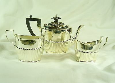 Great Condition Solid Silver Bachelor Tea Set - Sheffield 1894/6  - 470g