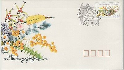 AUSTRALIA THINKING OF YOU 1992 FIRST DAY COVER P&P discount available