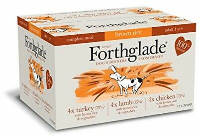 Forthglade 100% Natural Complete Meal Meat Selection Dog Pet Food - 12 Pack