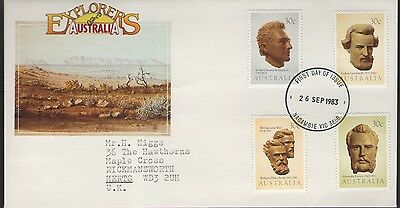 Australia Explorers 1983 First Day Cover Free P&p