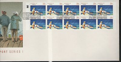 Australia Sport Series 1 Fishing 1989 First Day Cover Free P&p