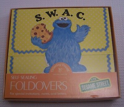 "Sesame Street Cookie Monster blank SWAC ""Sealed with a Cookie"" Stationary"