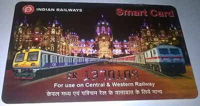 India Railway Smart Card...mumbai Central And Western Railway..can Used