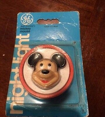 Vintage Mickey Mouse Disney Night Light Nite Lite (1977) General Electric