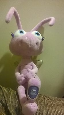 "Bug's Life Disney Store purple ant 10"" Dot plush stuffed toy"