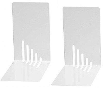 Wedo 1021000 Metal Bookend, 14 X 8.5 X 14 Cm Set Of 2) and ndash; White NEW