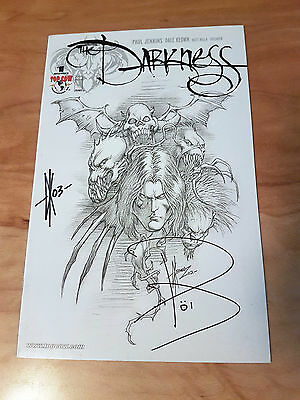 The Darkness #1 2nd Series Rare Sketch Variant X2 Signed Paul Jenkins Dale Keown
