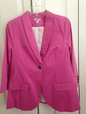 A Pea In The Pod Maternity Blazer Bubble Gym Pink Size M
