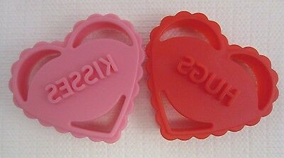 VALENTINE HEART 3D Cookie Cutters - Set of 2 - HUGS & KISSES