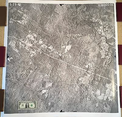 "Huge aerial photograph: SOUTH BERWICK, MAINE, 1962!  41"" square!"