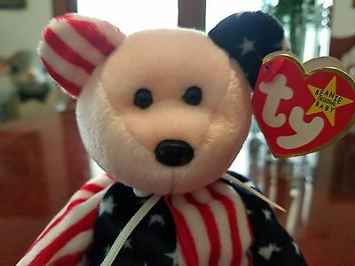TY BEANIE BABY Beanie Babies *1999 SPANGLE PINK RED FACE* ERROR, AUTHENTIC, RARE